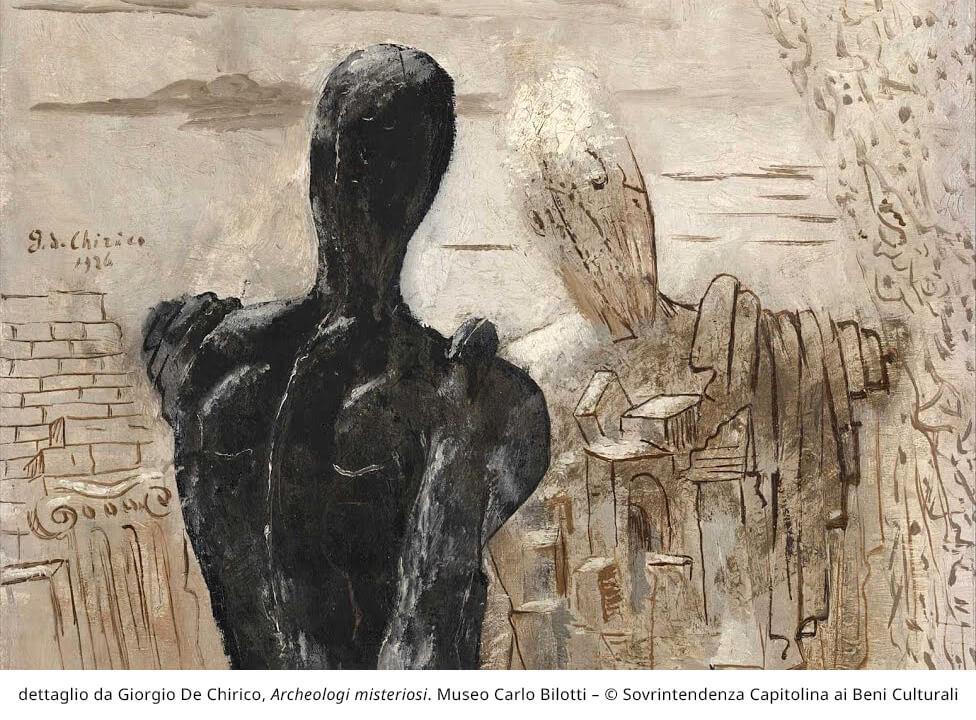 dettaglio da Giorgio De Chirico, Archeologi misteriosi. Museo Carlo Bilotti - (c) Sovrintendenza Capitolina ai Beni Culturali